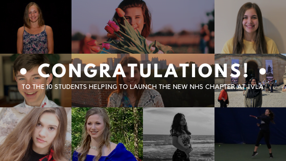 Blog Image For IVLA's First Students Inducted to the National Honor Society